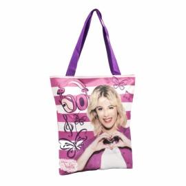 Geanta Shopping Violetta Roses - Coriex imagine