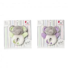 Plus Bebelusi Elefantel inel dentitie 12 cm cu zornaitoare (2 culori) - Artesavi