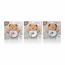 Plus Bebelusi Ursulet inel dentitie 12 cm cu zornaitoare (3 culori) - Artesavi