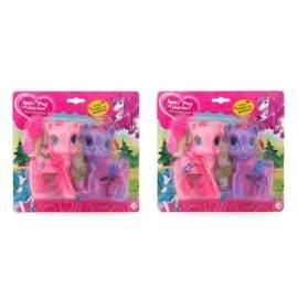 Set 2 ponei cu perie