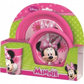 Set 2 farfurii si pahar BBS Minnie Mouse