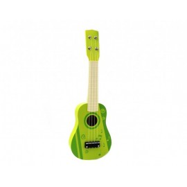 Chitara lemn copii cu 4 corzi portocalie 54 cm