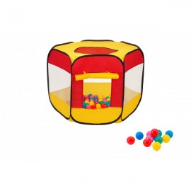 Spatiu De Joaca Cort Cu 70 Bile Multicolore Globo Pentru Copii imagine