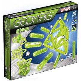 Geomag Glow Fosforescent - Set magnetic 40 piese