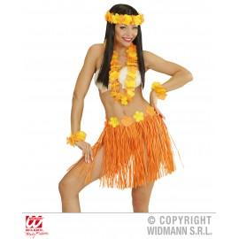 Set hawaii portocaliu - marimea 128 cm