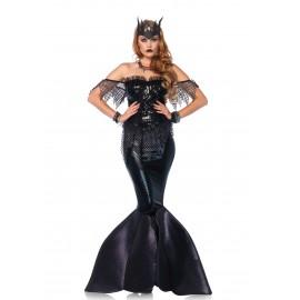 Costum sirena intunecata - marimea 128 cm
