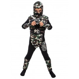 Costum ninja camuflaj copil