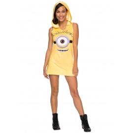Costum rochie minion cu gluga