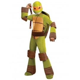 Costum Testoasele Ninja-Michelangelo Copil - Marimea 128 Cm imagine
