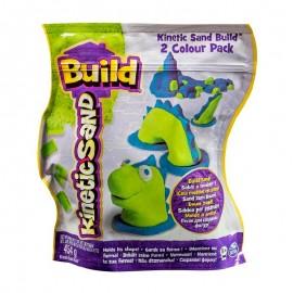 Nisip Kinetic 2 Culori - Albastru-Verde 454 G - Kinetic Sand imagine