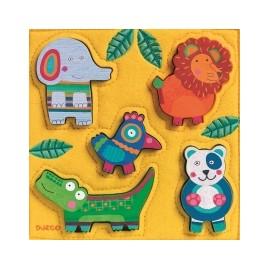 Puzzle Djeco lemn şi fetru Jungla