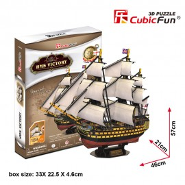 Corabia HMS Victory - Puzzle 3D - 189 de piese