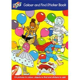Galt - Carte de colorat si cu abtibilduri