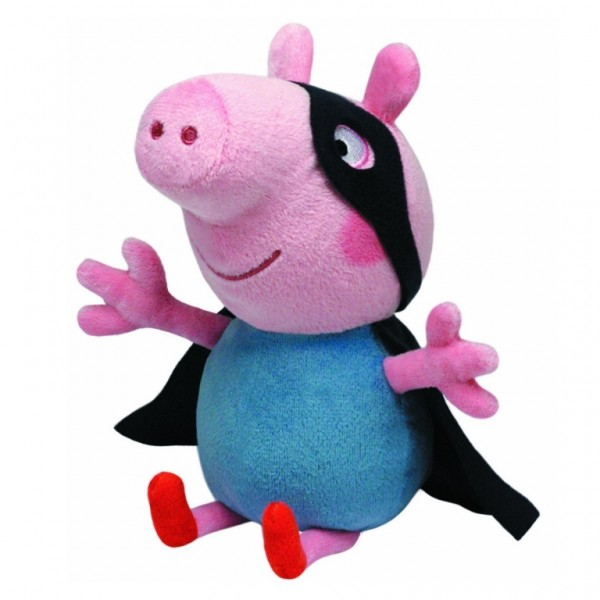 Plus Peppa Pig - George Supereroul (15 cm) - Ty