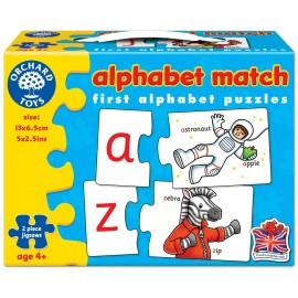 Joc educativ - puzzle in limba engleza Invata alfabetul prin asociere ALPHABET MATCH