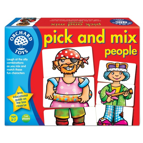 Joc educativ Asociaza personajele PICK AND MIX PEOPLE