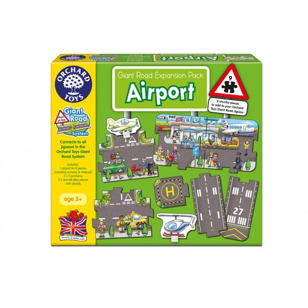 Puzzle gigant de podea Aeroport (9 piese) GIANT ROAD EXPANSION PACK AIRPORT