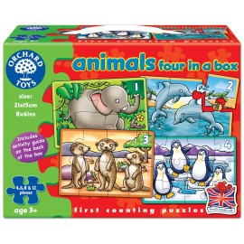 Set 4 Puzzle Animale (4 6 8 & 12 piese) ANIMALS FOUR IN A BOX