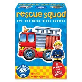 Set 6 Puzzle Echipa De Salvare (2 Si 3 Piese) Rescue Squad imagine