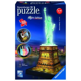 Puzzle 3d luminos statuia libertatii 108 piese