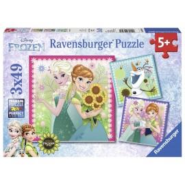 Puzzle frozen 3x49 piese