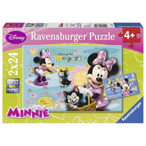 Puzzle minnie mouse 2x24 piese
