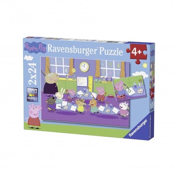 Puzzle purcelusa peppa 2x24 piese
