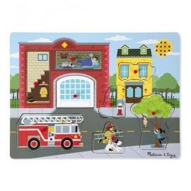 Puzzle cu sunete Brigada de pompieri