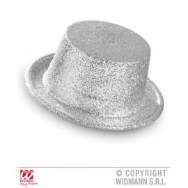 Palarie glitter argintie