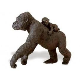 Gorila - Femela cu pui - 11 x 9 cm