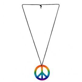 Colier hippie curcubeu