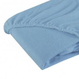 Cearceaf cu elastic din fotir bleu 120/60 cm