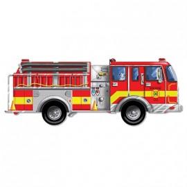 Melissa & Doug - Puzzle de podea gigant Masina de pompieri