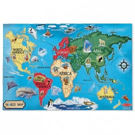 Melissa & Doug - Puzzle de podea Harta Lumii / World Map