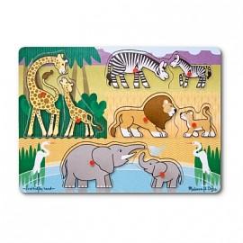 Melissa & Doug - Puzzle lemn Safari
