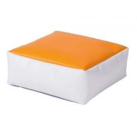 Puf portocaliu Powder Cube - Novum