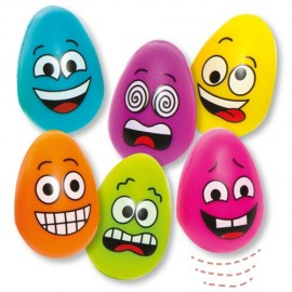 Set 6 oua saltarete din plastic Funny Face - Baker Ross