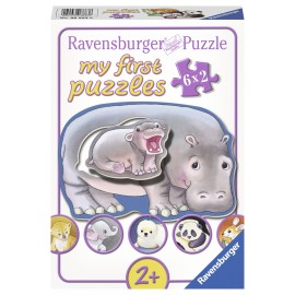 Primul meu puzzle animalute 6x2 piese