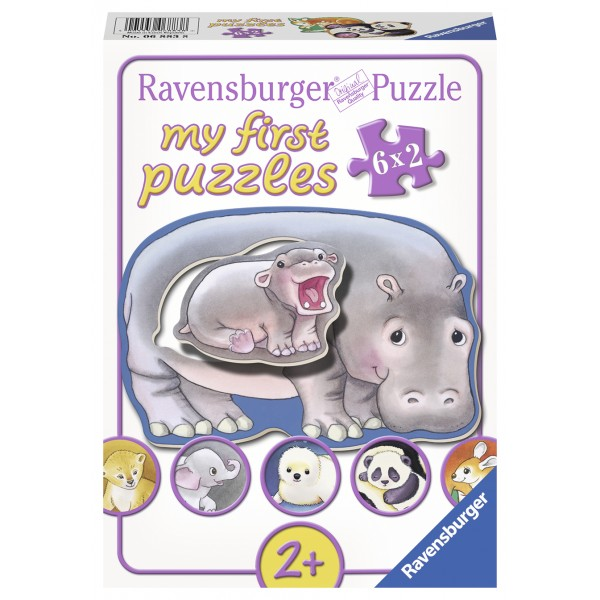 Primul meu puzzle animalute 6x2 piese