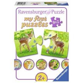 Primul meu puzzle animalute 9x2 piese