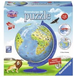 Puzzle 3d copii - globul lumii 180 piese