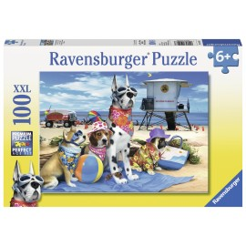 Puzzle catelusi pe plaja 100 piese