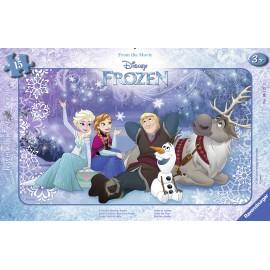 Puzzle frozen sub stele 15 piese