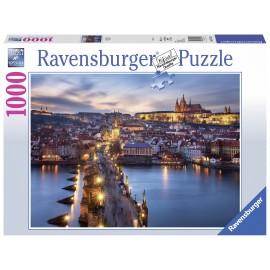 Puzzle Praga Noaptea 1000 Piese imagine