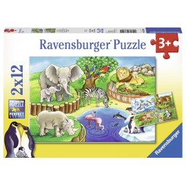 Puzzle zoo 2x12 piese