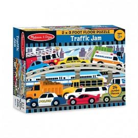 Melissa & Doug - Puzzle de podea Blocaj in trafic