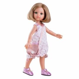 Papusa Carla in rochie alba-rozie tip gogosar - Paola Reina