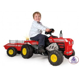 Tractor SUPER TRAC cu pedale si remorca