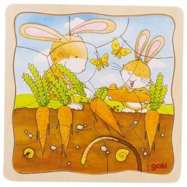 Puzzle cu animale pentru copii de 3 ani 8