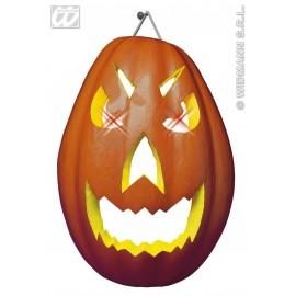 Decor perete Halloween - Dovleac cu lumini